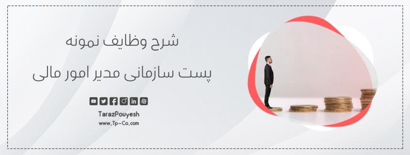 شرح وظایف نمونه پست سازمانی مدیر امور مالی
